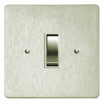 Victorian Rocker Light Switch 1 Gang Satin Nickel