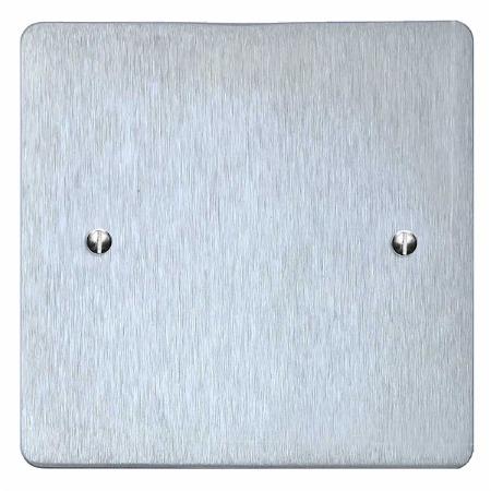 Victorian Single Blank Plate Satin Chrome