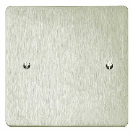 Victorian Single Blank Plate Satin Nickel