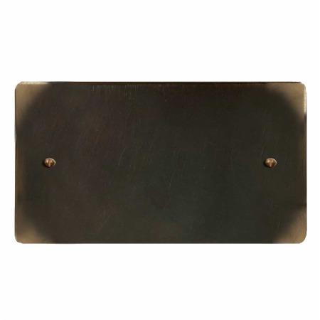 Victorian Double Blank Plate Dark Antique Relief