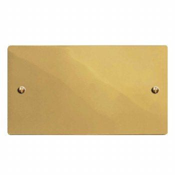 Victorian Double Blank Plate Polished Brass Lacquered