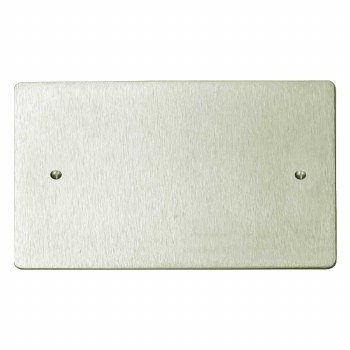 Victorian Double Blank Plate Satin Nickel