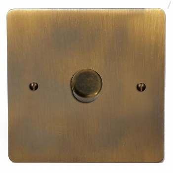 Victorian Dimmer Switch 1 Gang Antique Brass Lacquered