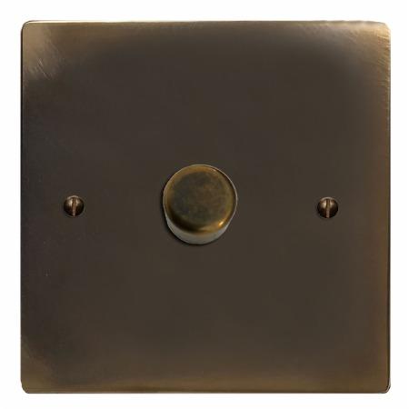 Victorian Dimmer Switch 1 Gang Dark Antique Relief