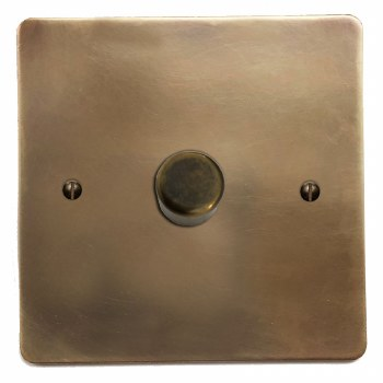 Victorian Dimmer Switch 1 Gang Hand Aged Brass