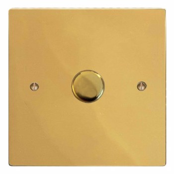 Victorian Dimmer Switch 1 Gang Polished Brass Lacquered