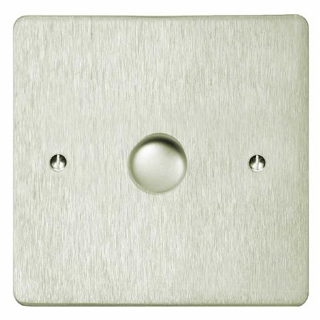 Victorian Dimmer Switch 1 Gang Satin Nickel