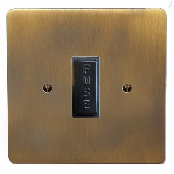Victorian Fused Spur Connection Unit 13 Amp Antique Brass Lacquered