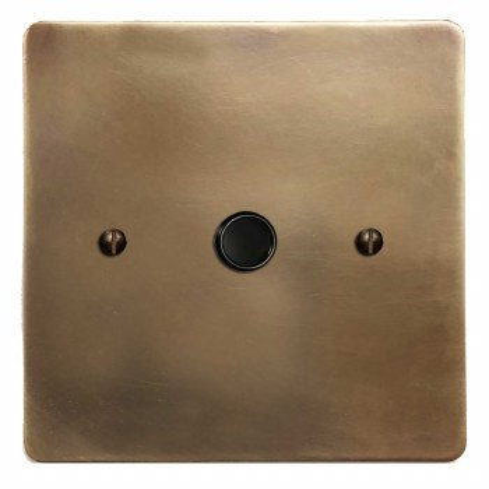 Victorian Flex Outlet Hand Aged Brass