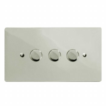 Victorian Dimmer Switch 3 Gang Polished Nickel