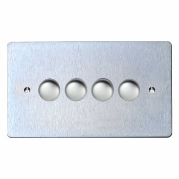 Victorian Dimmer Switch 4 Gang Satin Chrome