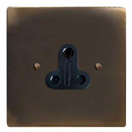 Victorian Lighting Socket Round Pin 5A Dark Antique Relief