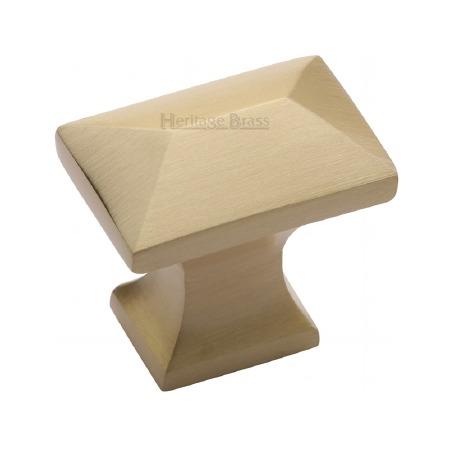 Heritage Pyramid Knob C2232 Satin Brass