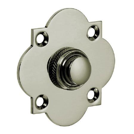 Croft Quatrefoil Door Bell Push 1915 Polished Nickel
