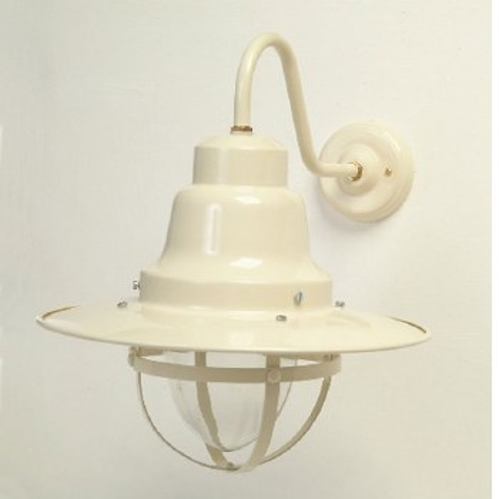 Quayside Outdoor Wall Light Lantern Cream
