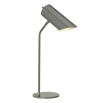 Elstead Quinto Table Lamp Grey & Polished Nickel