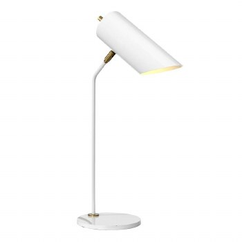 Elstead Quinto Table Lamp White & Antique Brass