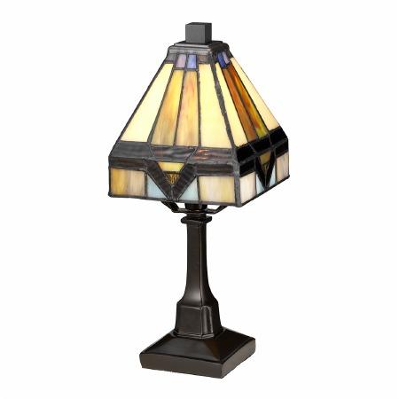 Quoizel Holmes Tiffany Mini Lamp Vintage Bronze