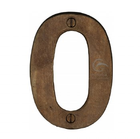 Heritage Numerals 0 RBL351 Solid Rustic Bronze