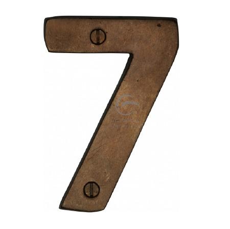 Heritage Numerals 7 RBL351 Solid Rustic Bronze