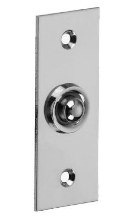 Croft 1910 Rectangular Door Bell Push Polished Chrome