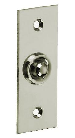 Croft 1910 Rectangular Door Bell Push Polished Nickel