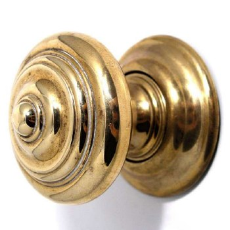 Regency Royal Door Knobs Renovated Brass