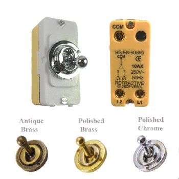 Retractive Dolly Switch 250v/10A 2-Way Module Polished Chrome