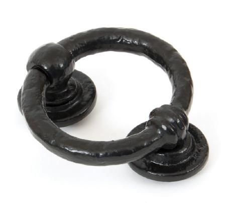 """From The Anvil 4"""" Ring Door Knocker Black"""