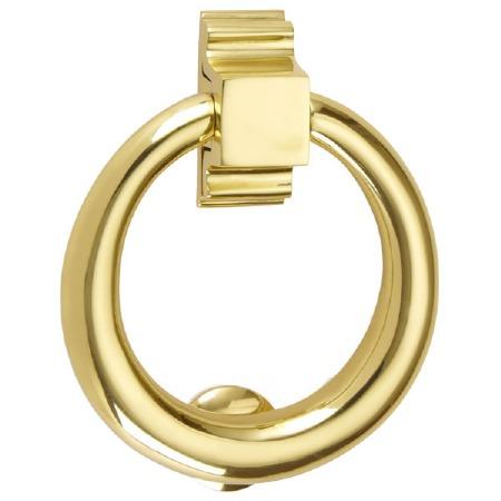 Croft Ring Door Knocker 1893 Polished Brass Unlacquered