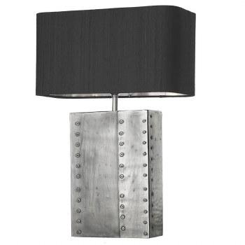 David Hunt RIV4367 Rivet Table Lamp Base Pewter