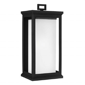 Feiss Roscoe Outdoor Wall Light Large Textured Black