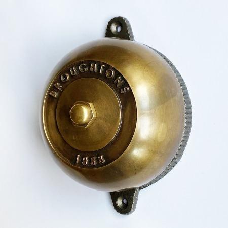 Rotary 1888 Door Bell Antique Satin Brass