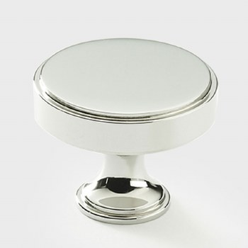 Armac Rotunda Cabinet or Cupboard Knob 32mm Polished Nickel