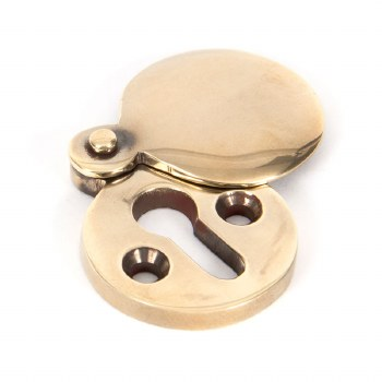 From The Anvil Round Covered Escutcheon Aged Brass