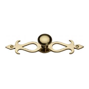 Heritage Round Knob on Backplate C3074 Polished Brass