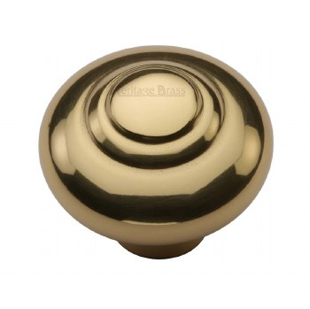 Heritage Round Knob C3985 38mm Polished Brass