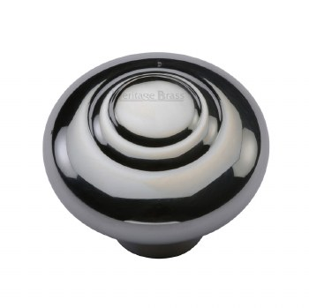 Heritage Round Knob C3985 38mm Polished Chrome