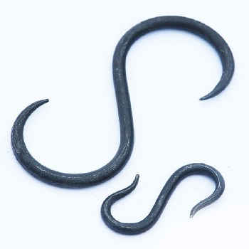 Hand Forged S Hook Beeswax Small