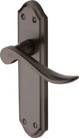Heritage Sandown Latch Door Handles SAN1410 Matt Bronze