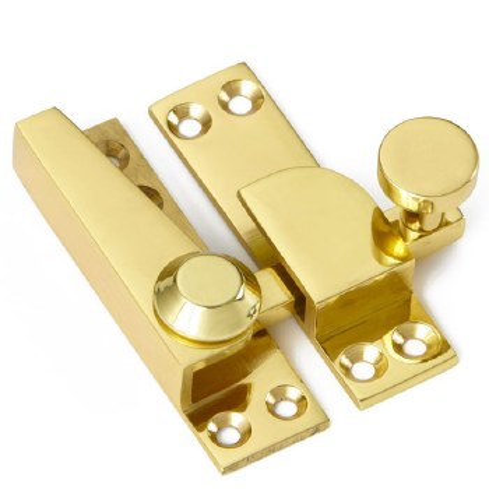 Croft Sash Fastener Straight Arm Polished Brass