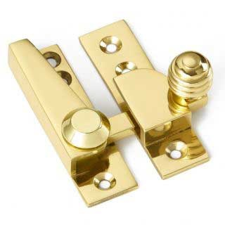 Croft Sash Fastener Polished Brass Unlacquered
