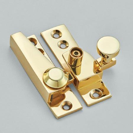 Croft Sash Lockable Fastener Polished Brass Unlacquered