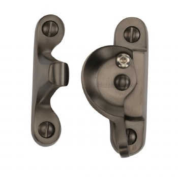 Heritage Sash Fastener V2060 Lockable Matt Bronze