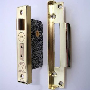Broughtons Mortice Door Lock Rebate Kit Polished Brass