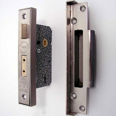 Broughtons Mortice Door Lock Rebate Kit Stainless Steel