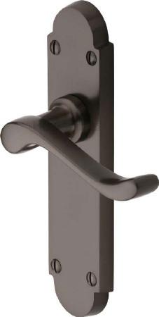 Heritage Savoy Latch Door Handles S610 Matt Bronze