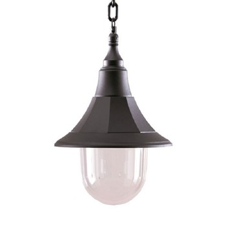 Elstead Shannon Chain Porch Lantern Black