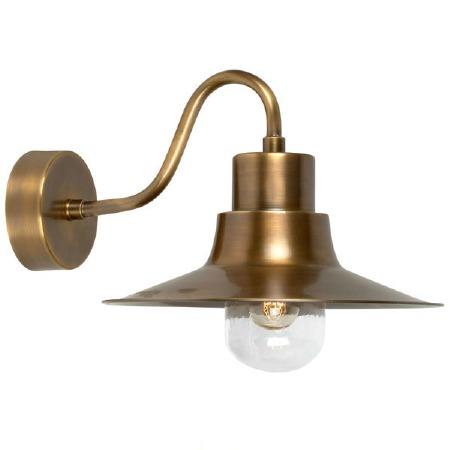 Elstead Sheldon Outdoor Wall Light Antique Brass