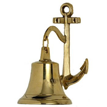 Ships & Anchor 1827 Bell Brass Large